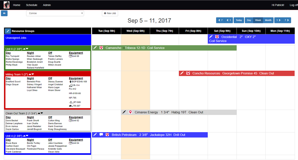 CoilOps scheduler